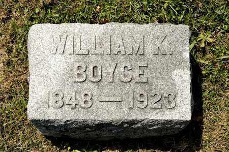 BOYCE, WILLIAM K - Richland County, Ohio   WILLIAM K BOYCE - Ohio Gravestone Photos