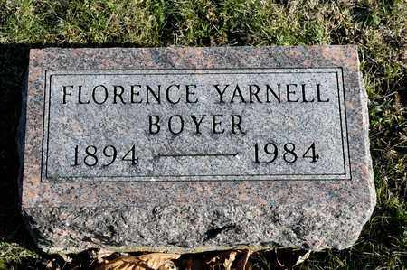 YARNELL BOYER, FLORENCE - Richland County, Ohio | FLORENCE YARNELL BOYER - Ohio Gravestone Photos