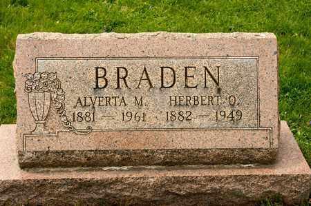 BRADEN, ALVERTA M - Richland County, Ohio   ALVERTA M BRADEN - Ohio Gravestone Photos
