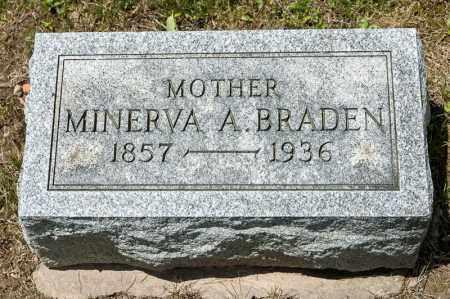 BRADEN, MINERVA A - Richland County, Ohio   MINERVA A BRADEN - Ohio Gravestone Photos
