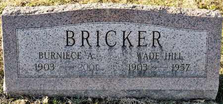 BRICKER, BURNIECE A - Richland County, Ohio | BURNIECE A BRICKER - Ohio Gravestone Photos