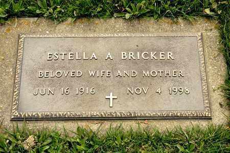 BRICKER, ESTELLA A - Richland County, Ohio | ESTELLA A BRICKER - Ohio Gravestone Photos