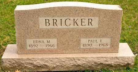 BRICKER, EDNA M - Richland County, Ohio | EDNA M BRICKER - Ohio Gravestone Photos