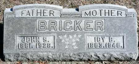 BRICKER, JOHN S - Richland County, Ohio | JOHN S BRICKER - Ohio Gravestone Photos