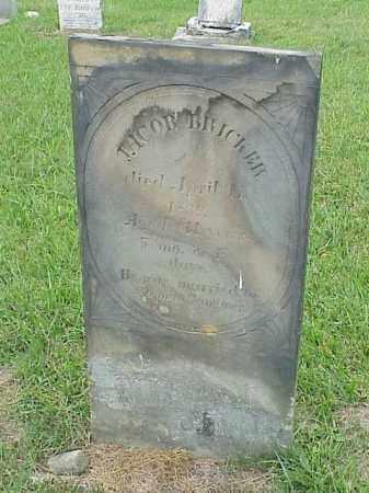 BRICKER, JACOB - Richland County, Ohio   JACOB BRICKER - Ohio Gravestone Photos