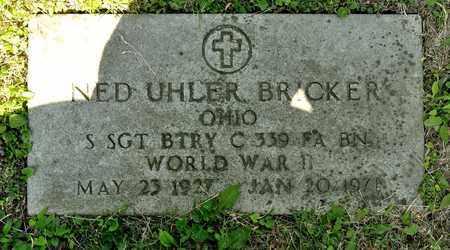 BRICKER, NED UHLER - Richland County, Ohio   NED UHLER BRICKER - Ohio Gravestone Photos