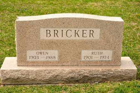 BRICKER, OWEN - Richland County, Ohio | OWEN BRICKER - Ohio Gravestone Photos