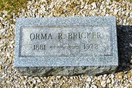BRICKER, ORMA R - Richland County, Ohio   ORMA R BRICKER - Ohio Gravestone Photos