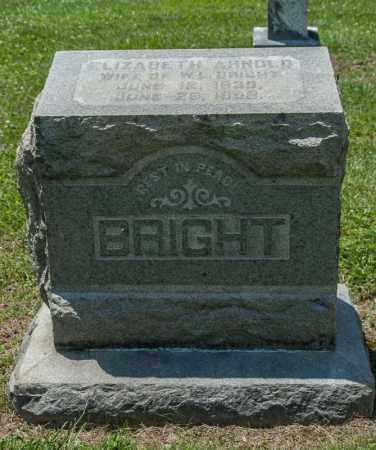 ARNOLD BRIGHT, ELIZABETH - Richland County, Ohio | ELIZABETH ARNOLD BRIGHT - Ohio Gravestone Photos
