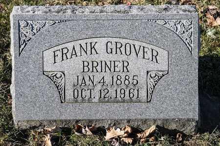 BRINER, FRANK GROVER - Richland County, Ohio | FRANK GROVER BRINER - Ohio Gravestone Photos