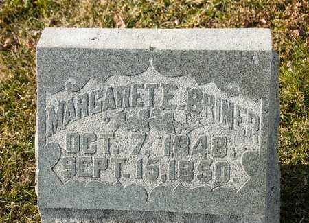 BRINER, MARGARET E - Richland County, Ohio   MARGARET E BRINER - Ohio Gravestone Photos