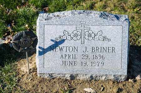 BRINER, NEWTON J - Richland County, Ohio   NEWTON J BRINER - Ohio Gravestone Photos