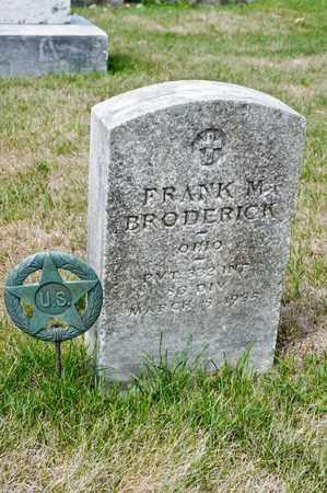 BRODERICK, FRANK M - Richland County, Ohio   FRANK M BRODERICK - Ohio Gravestone Photos