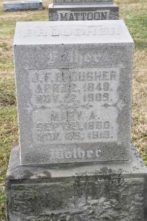 BROUGHER, J F - Richland County, Ohio   J F BROUGHER - Ohio Gravestone Photos