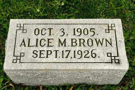 BROWN, ALICE M - Richland County, Ohio   ALICE M BROWN - Ohio Gravestone Photos