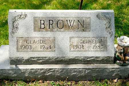 BROWN, CLAUDE - Richland County, Ohio   CLAUDE BROWN - Ohio Gravestone Photos