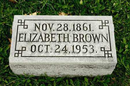 BROWN, ELIZABETH - Richland County, Ohio   ELIZABETH BROWN - Ohio Gravestone Photos