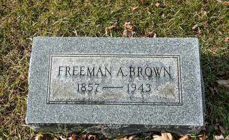 BROWN, FREEMAN A - Richland County, Ohio | FREEMAN A BROWN - Ohio Gravestone Photos