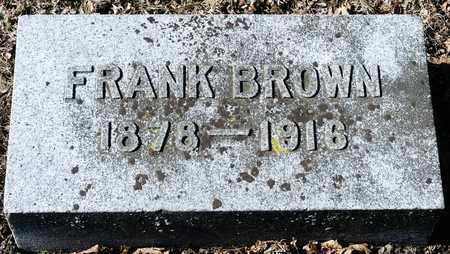 BROWN, FRANK - Richland County, Ohio   FRANK BROWN - Ohio Gravestone Photos