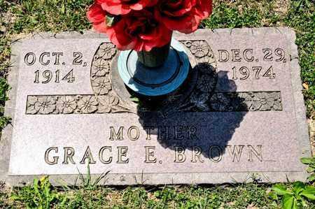 BROWN, GRACE E - Richland County, Ohio | GRACE E BROWN - Ohio Gravestone Photos
