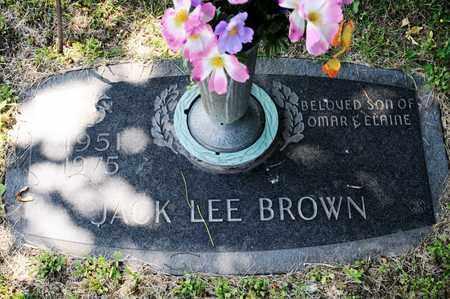 BROWN, JACK LEE - Richland County, Ohio | JACK LEE BROWN - Ohio Gravestone Photos