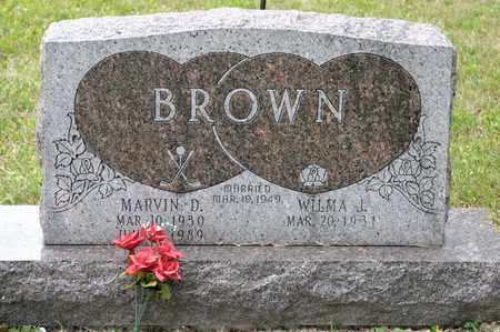 BROWN, MARVIN D - Richland County, Ohio   MARVIN D BROWN - Ohio Gravestone Photos