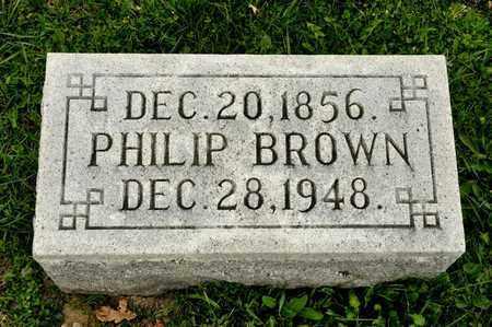 BROWN, PHILIP - Richland County, Ohio | PHILIP BROWN - Ohio Gravestone Photos