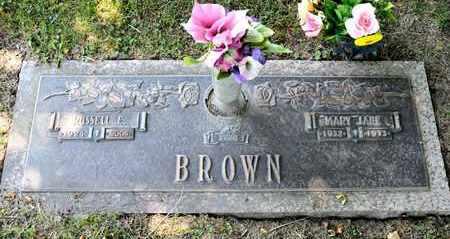 BROWN, RUSSELL E - Richland County, Ohio | RUSSELL E BROWN - Ohio Gravestone Photos