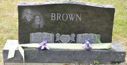 BROWN SR, HOLLEY - Richland County, Ohio | HOLLEY BROWN SR - Ohio Gravestone Photos
