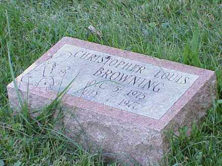 BROWNING, CHRISTOPHER LOUIS - Richland County, Ohio | CHRISTOPHER LOUIS BROWNING - Ohio Gravestone Photos