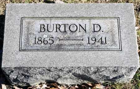 BRUBAKER, BURTON D - Richland County, Ohio   BURTON D BRUBAKER - Ohio Gravestone Photos