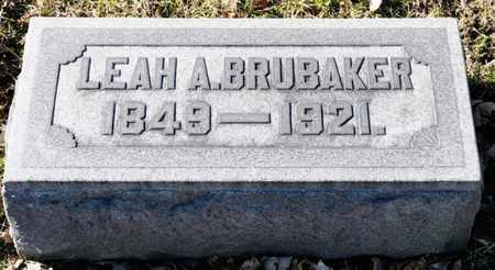 BRUBAKER, LEAH A - Richland County, Ohio | LEAH A BRUBAKER - Ohio Gravestone Photos