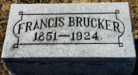 BRUCKER, FRANCIS - Richland County, Ohio | FRANCIS BRUCKER - Ohio Gravestone Photos