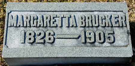 BRUCKER, MARGARETTA - Richland County, Ohio | MARGARETTA BRUCKER - Ohio Gravestone Photos