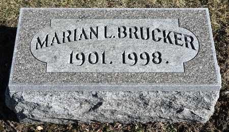 BRUCKER, MARIAN L - Richland County, Ohio | MARIAN L BRUCKER - Ohio Gravestone Photos
