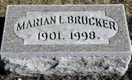 BRUCKER, MARIAN L - Richland County, Ohio   MARIAN L BRUCKER - Ohio Gravestone Photos