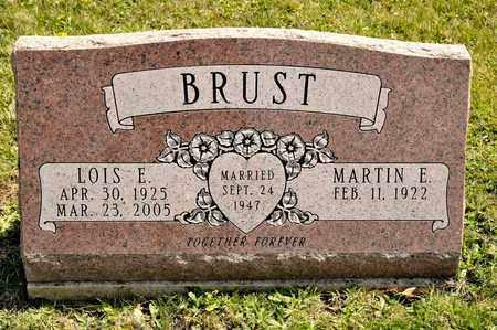 BRUST, MARTIN E - Richland County, Ohio   MARTIN E BRUST - Ohio Gravestone Photos