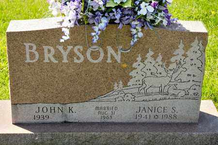 BRYSON, JANICE S - Richland County, Ohio   JANICE S BRYSON - Ohio Gravestone Photos
