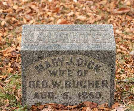 DICK BUCHER, MARY J - Richland County, Ohio | MARY J DICK BUCHER - Ohio Gravestone Photos