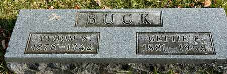 BUCK, BLOOM S - Richland County, Ohio   BLOOM S BUCK - Ohio Gravestone Photos