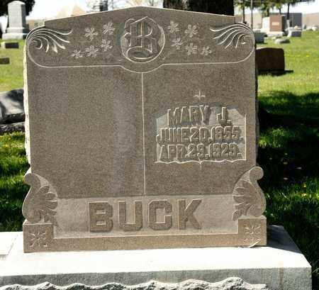 BUCK, MARY J - Richland County, Ohio | MARY J BUCK - Ohio Gravestone Photos