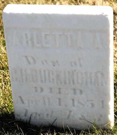 BUCKINGHAM, ARLETTA A - Richland County, Ohio | ARLETTA A BUCKINGHAM - Ohio Gravestone Photos