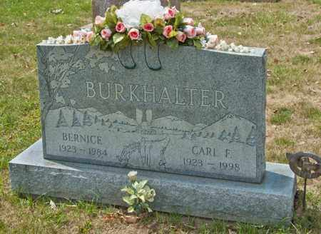 BURKHALTER, BERNICE - Richland County, Ohio | BERNICE BURKHALTER - Ohio Gravestone Photos