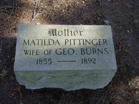 PITTENGER BURN, MATILDA - Richland County, Ohio | MATILDA PITTENGER BURN - Ohio Gravestone Photos