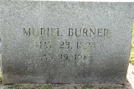 BURNER, MURIEL - Richland County, Ohio   MURIEL BURNER - Ohio Gravestone Photos