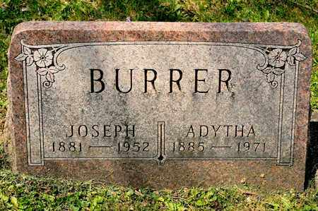 BURRER, ADYTHA - Richland County, Ohio | ADYTHA BURRER - Ohio Gravestone Photos