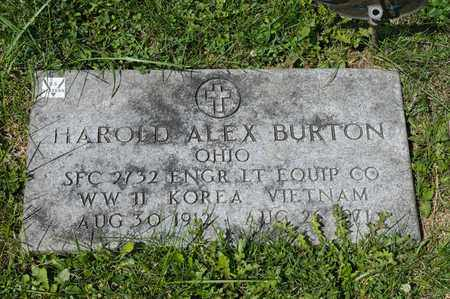 BURTON, HAROLD ALEX - Richland County, Ohio   HAROLD ALEX BURTON - Ohio Gravestone Photos