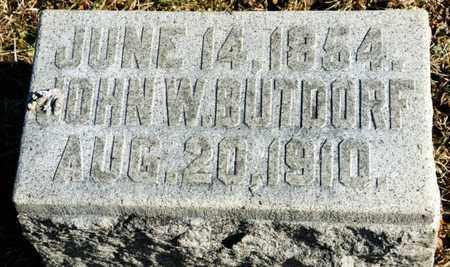 BUTDORF, JOHN W - Richland County, Ohio | JOHN W BUTDORF - Ohio Gravestone Photos