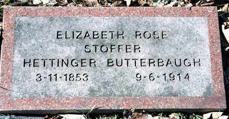 STOFFER BUTTERBAUGH, ELIZABETH ROSE - Richland County, Ohio | ELIZABETH ROSE STOFFER BUTTERBAUGH - Ohio Gravestone Photos