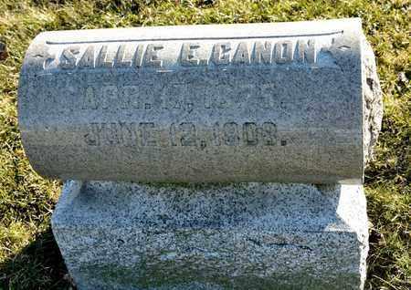 CANON, SALLIE E - Richland County, Ohio | SALLIE E CANON - Ohio Gravestone Photos